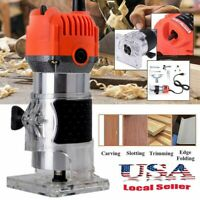 1/ 4'' Electric Hand Trimmer Wood Laminate Router Tool 580W 30000RPM