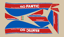 FANTIC MOTOR Trial 50 progress 1 1986 moto bianca ADESIVI STICKERS