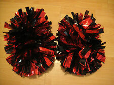 Child Adult Football Basketball Halloween Cheerleader 2PomPoms Red mixed Black