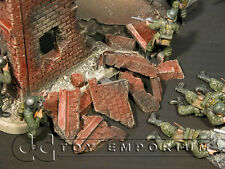 """""""RETIRED"""" Build-a-Rama 1:32 Hand  Painted  WWII  Deluxe  Building  Rubble Set"""