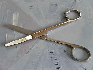 "Dressing Nursing Surgical Scissors 6"" Blunt / Blunt Curved q2008"
