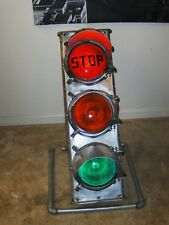 Vintage 3 1/2' Foot Traffic Stop Light on a Stand Working Excellent Condition