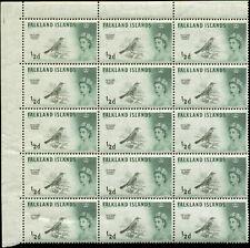 Falkland Islands Scott #128 Block of 15 Mint Never Hinged