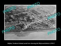 OLD LARGE HISTORIC PHOTO BELFAST NORTHERN IRELAND AERIAL VIEW HOLYWOOD c1930 3