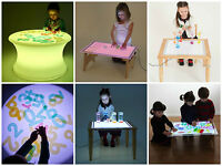 Childrens Sensory Mood Light Table Round Nursery, Early Years SEN Special Needs