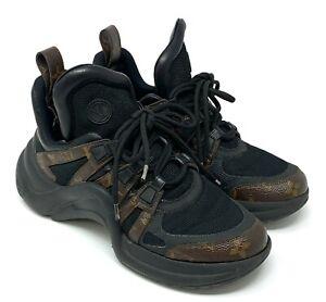 Authentic LOUIS VUITTON Archlight Line Sneakers #38.5 US 8 Monogram Rank B