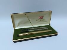 More details for vintage cross 1/20 12k rolled gold soft tip pen boxed with refills (black ink)