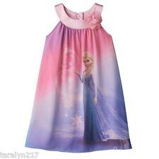 NWT GIRLS DRESS DISNEY FROZEN ELSA SUMMER DRESS NEW IN PKG BEAUTIFUL SZ 6X $58