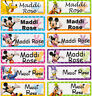 56 Mickey & Friends Personalised Name Label Stickers -  Large Dishwasher Safe