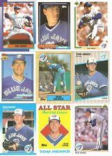 18 CARD TOM HENKE BASEBALL CARD LOT           412