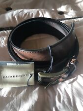 Men's Burberry Belt Size 42/105 Brown Leather New with Tags