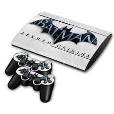 PS3 Slim 4000 Skin Sticker Decal Cover 2 Controllers BATMAN ARKHAM ORIGINS