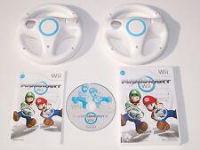 Nintendo Wii Spiel Mario Kart mit 2 original Lenkräder weiss #54005