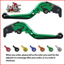 Folding Extendable Adjustable Levers Kawasaki ZX9 1994 - 1997 Green