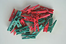 MINI CLOTHES PEGS - CHRISTMAS PEGS x 25 Ideal for Crafting