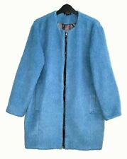 TOPSHOP LADIES BLUE OVERSIZED DUSTER COAT  WITH WOOL SIZE 10 /12