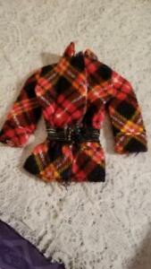 Vintage 1976 Barbie Best Buy #9581 Red & Navy PLaid Jacket