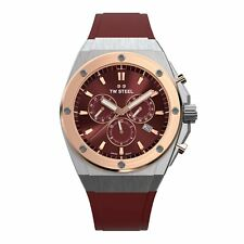 TW Steel TWCE4045 Ceo Tech Red Dial Chronograph Wristwatch