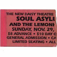 SOUL ASYLUM & THE LEMONHEADS Concert Ticket Stub MEMPHIS TN 11/29/92 NEW DAISY