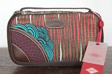 Damen-Geldbörsen & -Etuis mit umlaufendem Reißverschluss aus Wolle