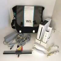 Nintendo Wii Console RVL-001 Game Cube Compatible Bundle w/ Accessories TESTED!