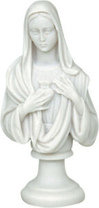 Panagia / Madonna / Virgin Mother / Mary Lady Cast Alabaster statue 22cm /8.66in