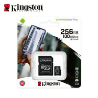 Kingston 256Go Canvas Select Plus MicroSDXC C10 Cartes Mémoire 100MBs + Adapteur