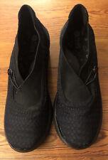 Bzees Energy Ladies Slip On Ankle Boots SZ 8.5M In Black