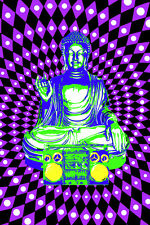 STEEZ BUDDHA BOOMBOX BLACK LIGHT 23x35 poster COLORS BEAUTIFUL DESIGNER NEW HOT!