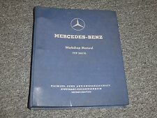 1961 Mercedes Benz 300SL Roadster Original Shop Service Repair Manual 1962 1963