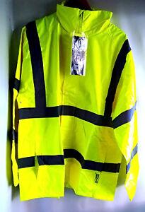 Warnschutz Regenjacke gelb Safestyle® PU Regenschutz wasserdicht -Gr. 2XL NEU