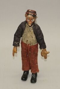"""UNUSUAL ORIGINAL EARLY 1900'S MUTT & JEFF POSEABLE FIGURAL DOLL 8"""" TALL"""
