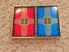 Vintage Congress Playing Cards John Thier Red Blue Cross