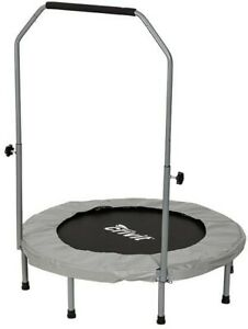 🌟 Home Fitness Gym Trampoline - Foldable with Pole and Grip - Indoor Training