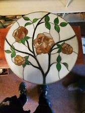 "Copper Foil Stained Glass- Window Hang- 21"" Wide"
