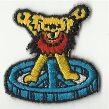 GRATEFUL DEAD dancing bear/yellow MINI SHAPED - EMBROIDERED - IRON/SEW ON PATCH