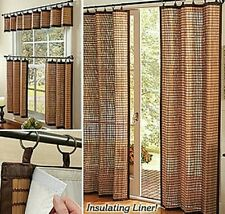 Curtain Blind Shade Bamboo Window Panels Cotton Trims Eco Friendly Natural NEW