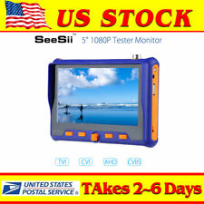 "5"" 1080P Tester Monitor CCTV Camera PTZ Test 4-in-1 TVI CVI AHD VGA CVBS Video"