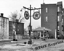 Photograph of a Vintage 1925 Texaco Gas Station  Washington DC 11x14