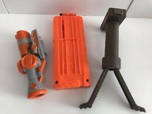 Nerf N-strike Elite Scope Magazine Bi Pod Bundle X 3 attachments