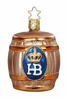 Inge Glas HB Beer Keg Hofbrauhaus German Glass Christmas Ornament FREE BOX New