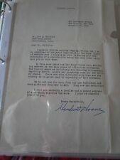 HERBERT HOOVER SIGNED LETTER-NOVEMBER.17 1945
