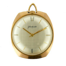 GLASHUTTE 1027 AUTOMATIC 17 RUBIES GOLD PLATED MENS PENDANT WATCH