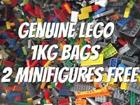 Genuine Lego Bundle 1kg Mixed Bricks Parts Pieces. Starter Set Bulk JobLot