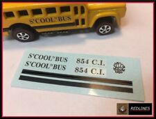 1971 Hot Wheels Redline 'S'Cool Bus' Reproduction Decal 6468