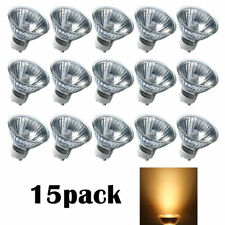 GU10 50W 120V 15 pcs Bulb Halogen Flood Light Bulb Dimmable w/ Cover Glass eTopL