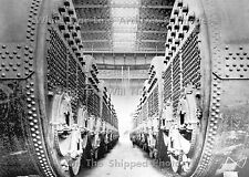 Photo: 5x7 RMS Titanic's Boilers At The Engine Works At Harland & Wolff Shipyard