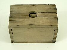 Antique Primitive Country Butter Mold Finger Joint Handmade Wooden Box Rustic