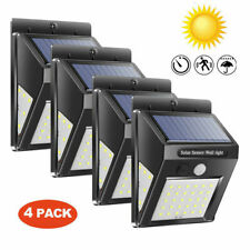 60 LED Solar Powered PIR Motion Sensor Light Outdoor Garden Security Wall Lamp