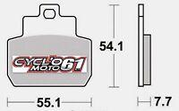 Plaquettes de frein arrière Scooter Piaggio X9 250 evolution 2004 à 2006 (S1122)